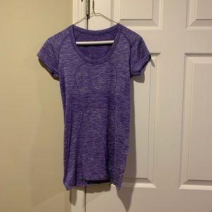 lululemon purple short sleeve shirt